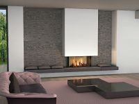 modern fireplace on the wall - Modern fireplaces for ...