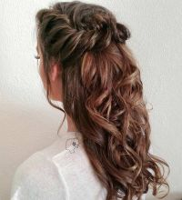 31 Half Up, Half Down Hairstyles for Bridesmaids | Braided ...