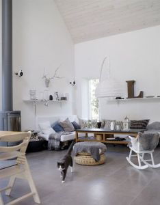 Scandinavian interiors grey blue textiles top tips for creating  interior such cosy inviting looking space also great look and colors love the mix of materials home inspiration rh pinterest