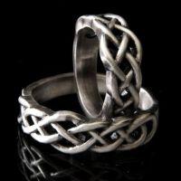 Celtic Knot Wedding Band Set, 925 Sterling Silver Wedding ...