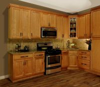 Full Image for Superb Honey Oak Cabinets With Dark Wood
