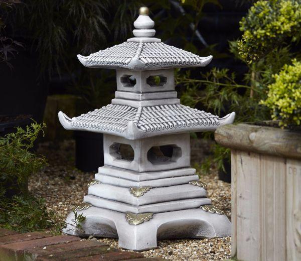 Borderstone Two Tier Pagoda Garden Ornament
