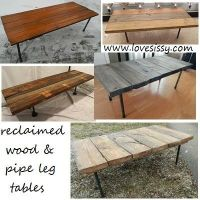 DIY plumbing pipe & upcycled or reclaimed wood tables ...