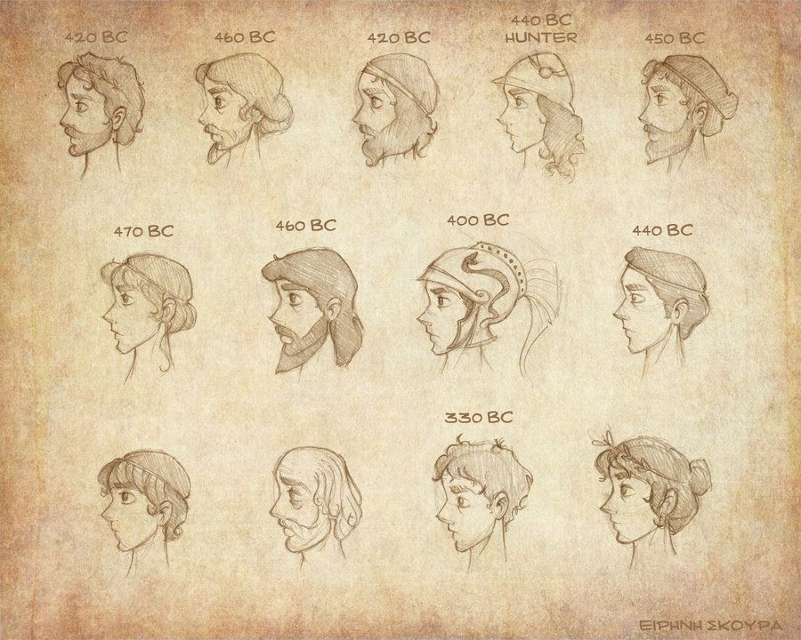 Ancient Greek Hairstyles Male By Ninidu On DeviantArt Drawing