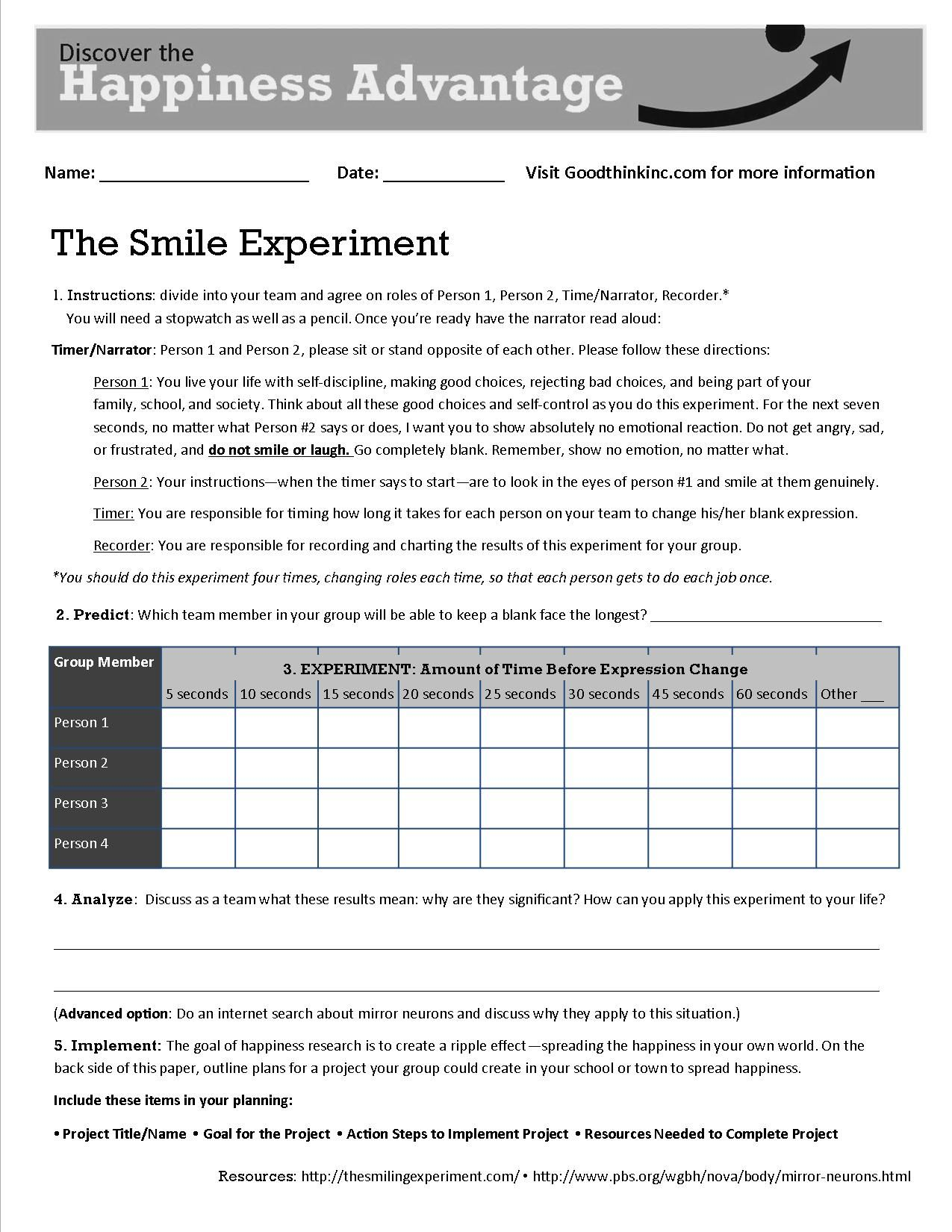 Worksheet Positive Thinking Worksheets Grass Fedjp Worksheet Study Site