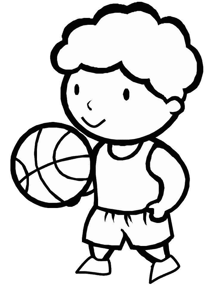 Dibujos para pintar de baloncesto. Dibujos para colorear