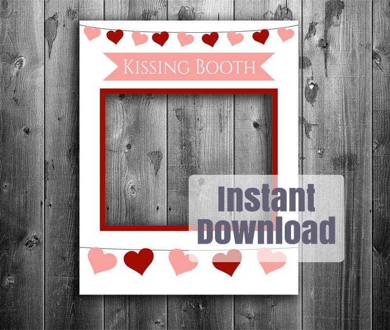 Kissing Booth Printable Diy Frame Photo Booth Frame