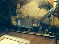 Carrier Furnace, horizontal attic installation, great job ...
