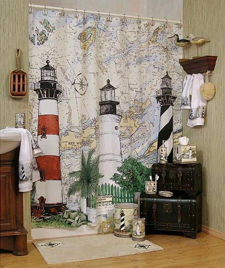 I Am Replacing My Blue Lighthouse Shower Curtain With This One
