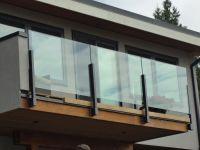glass railings exterior | topless glass railings on deck ...