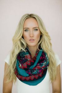 Bohemian Paisley Infinity Scarf Wide Floral Infinity Scarf ...