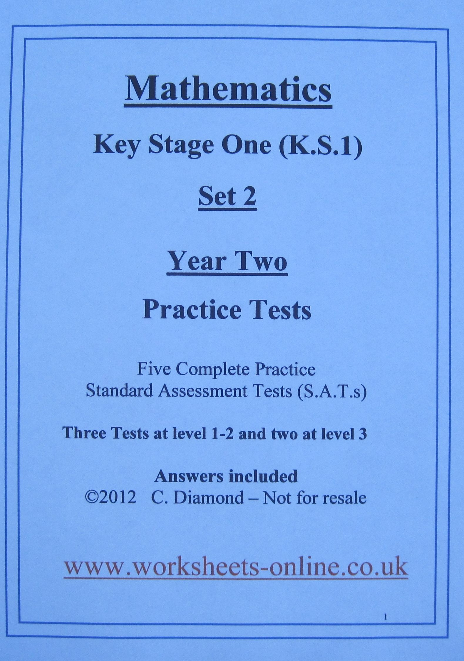 Ks1 Maths Sats Papers To Print Out And Use With Children Aged 6 And 7 Years Old