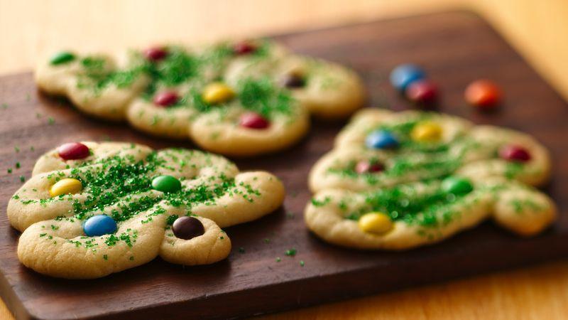 swirly christmas tree cookies recipe easy start pillsbury and