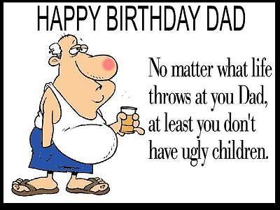 Unique #funny Dad Birthday Card #envelope #personalised