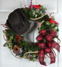 Cowboy Christmas Winter Wreath - Christmas Front Door ...