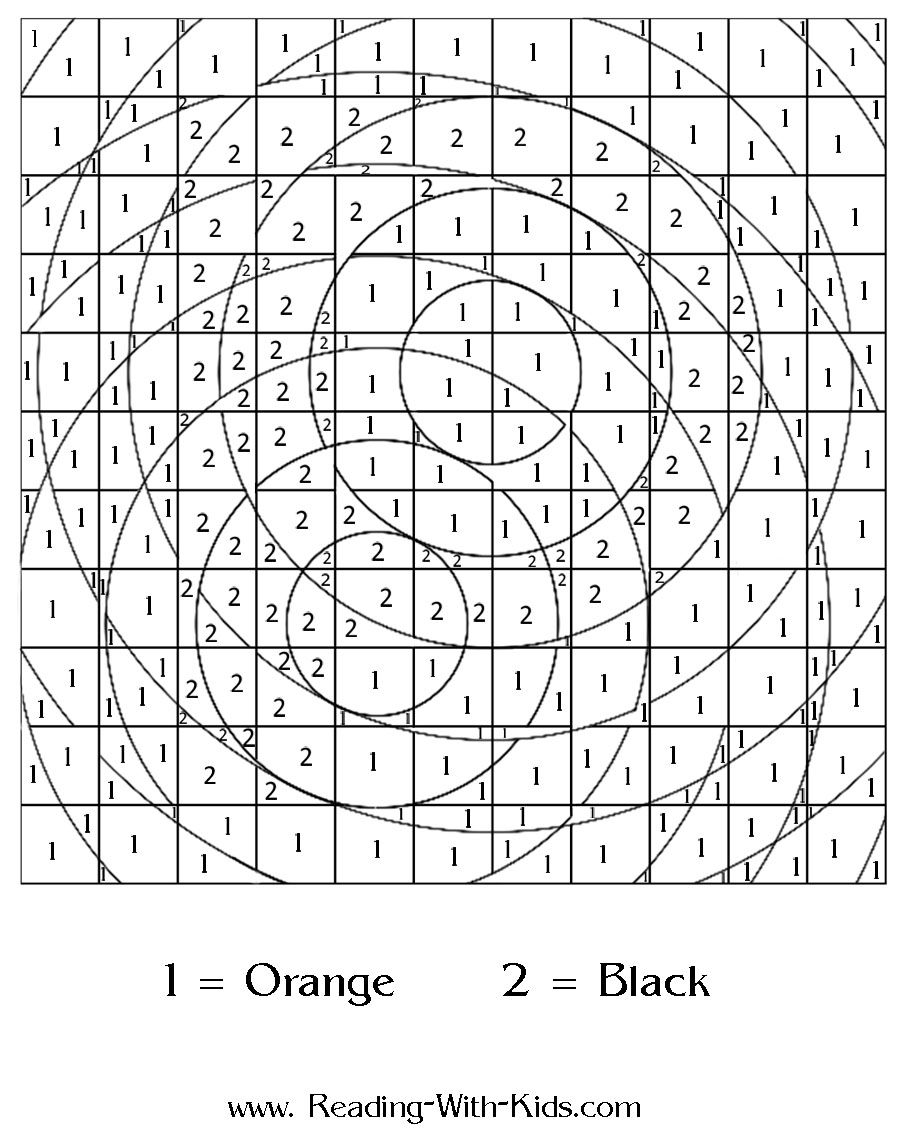 Color by number or by letter coloring pagesthe