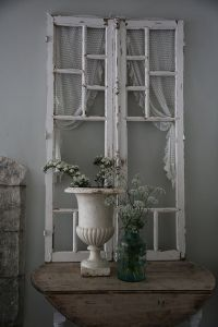 an old window can be a cool decoration for a shabby chic ...