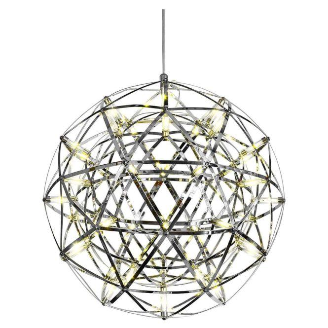 Febland Electron Chrome Metal Globe Ball Chandelier From Shack