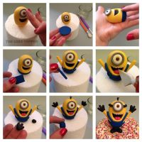 Minion Fondant Tutorial | Cake Decorating -Fondant and ...