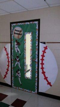 Baseball hallway door each hallway in our school is a ...