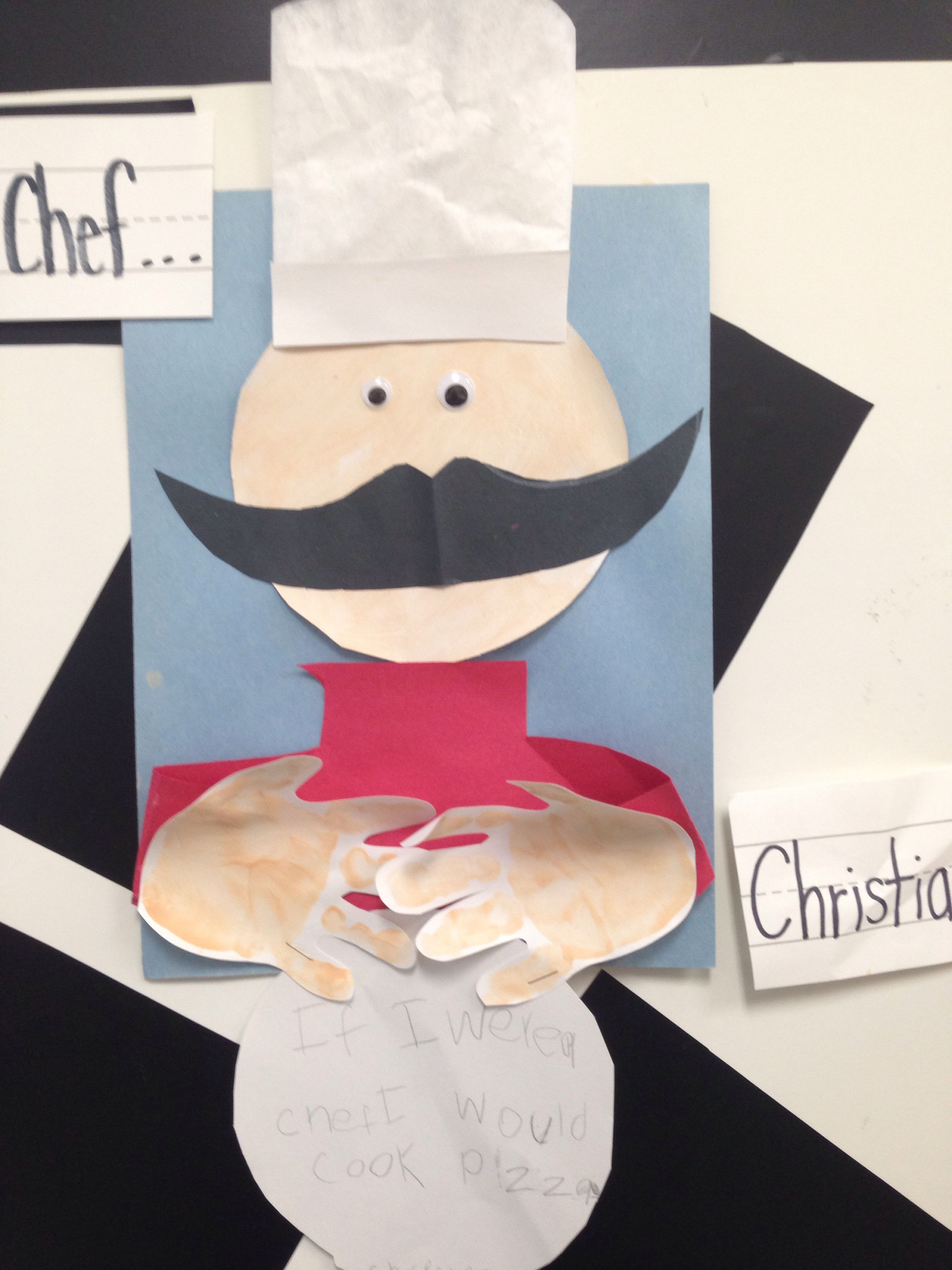 Occupations Prek Preschool Craft If I Were A Chef I Would Cook Pre K Art Project For