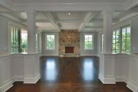 coffered ceiling and flooring transition | Home ideas ...