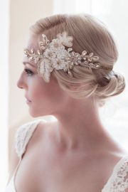 gold headband hipster bridal accessory