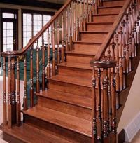 Stairs Railing Designs on Wood Stair Railing Design ...