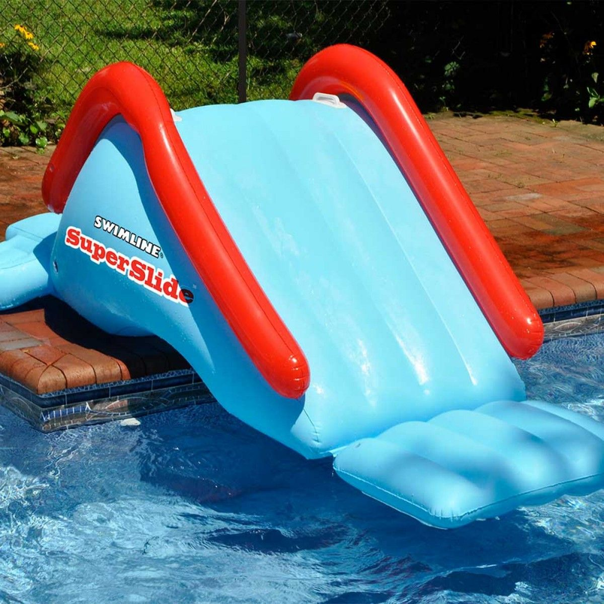 inflatable water chairs for adults outdoor double chaise lounge swimline super slide pool toy gift guide