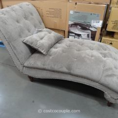 Costco Lounge Chairs Turquoise Accent Chair Chaise Looks Better In Person Room Of