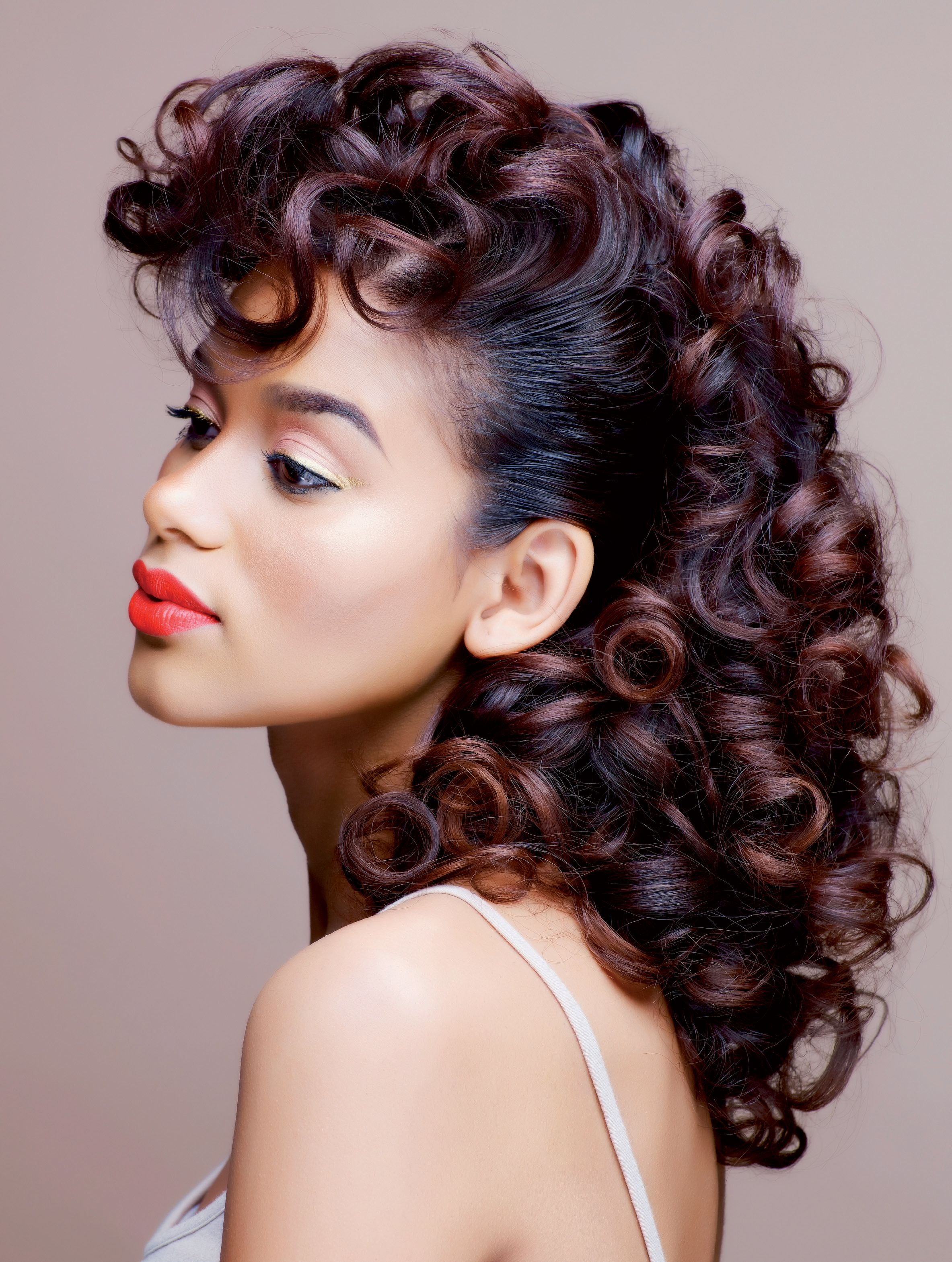 Roller Set Hairstyles Google Search Ecstasy Models Natural