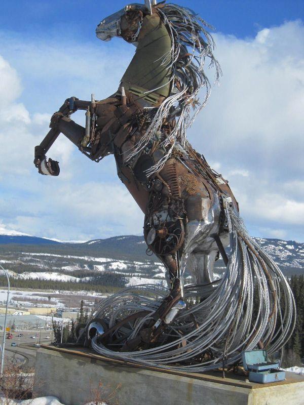 Horse Metal Art Sculpture
