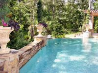 French Country style pool details