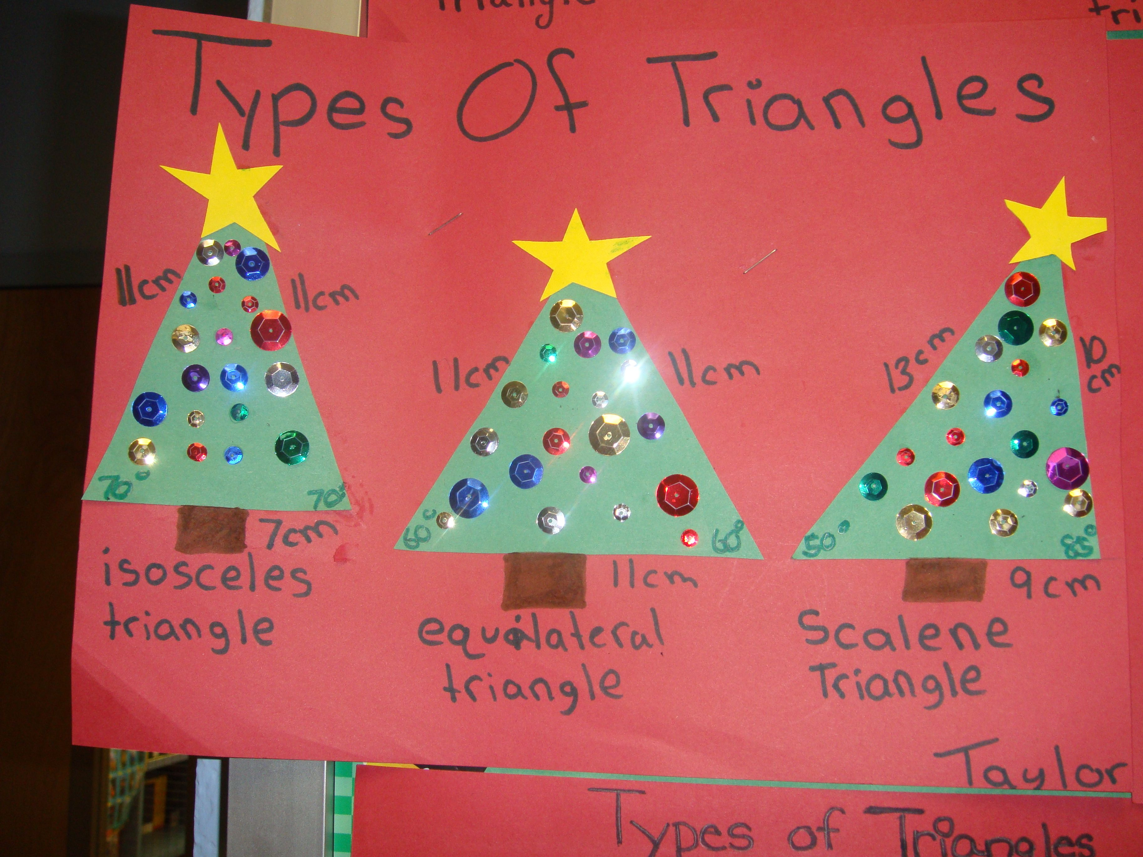Math Activity Create Christmas Trees Using The Different Types Of Triangles And Then They Were