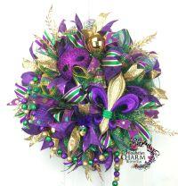 Deco Mesh Mardi Gras Wreath -Fleur de Lis Wreath -Mardi ...