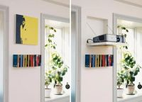 Look! Hidden Projector Behind Wall Art | Projection screen ...