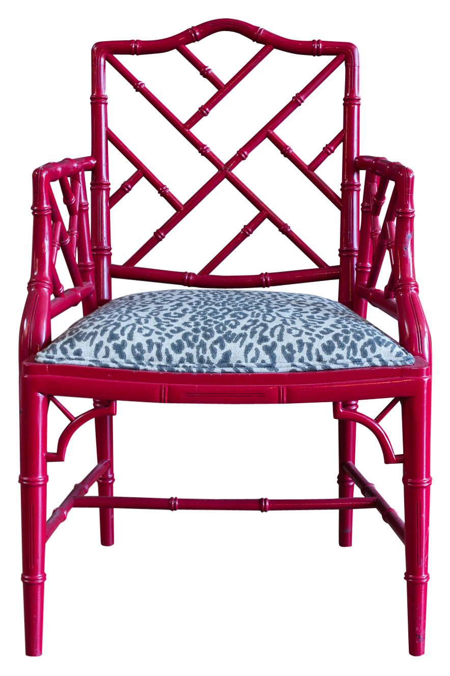 Chinese Chippendale chair in dark pink Bebe Love