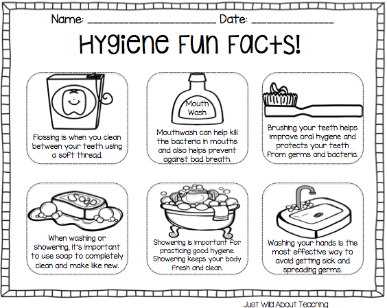 Just Wild About Teaching: All About Hygiene {health pack