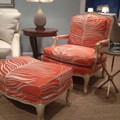 Giraffe Print Chair Crushed Velvet Dining Room Covers Pearson Furniture Fab Orange Animal Hpmkt
