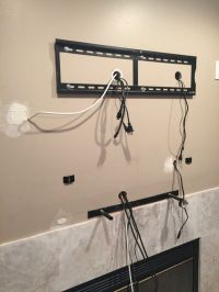 Fish all the cables in the wall, mount the tv wall plate ...