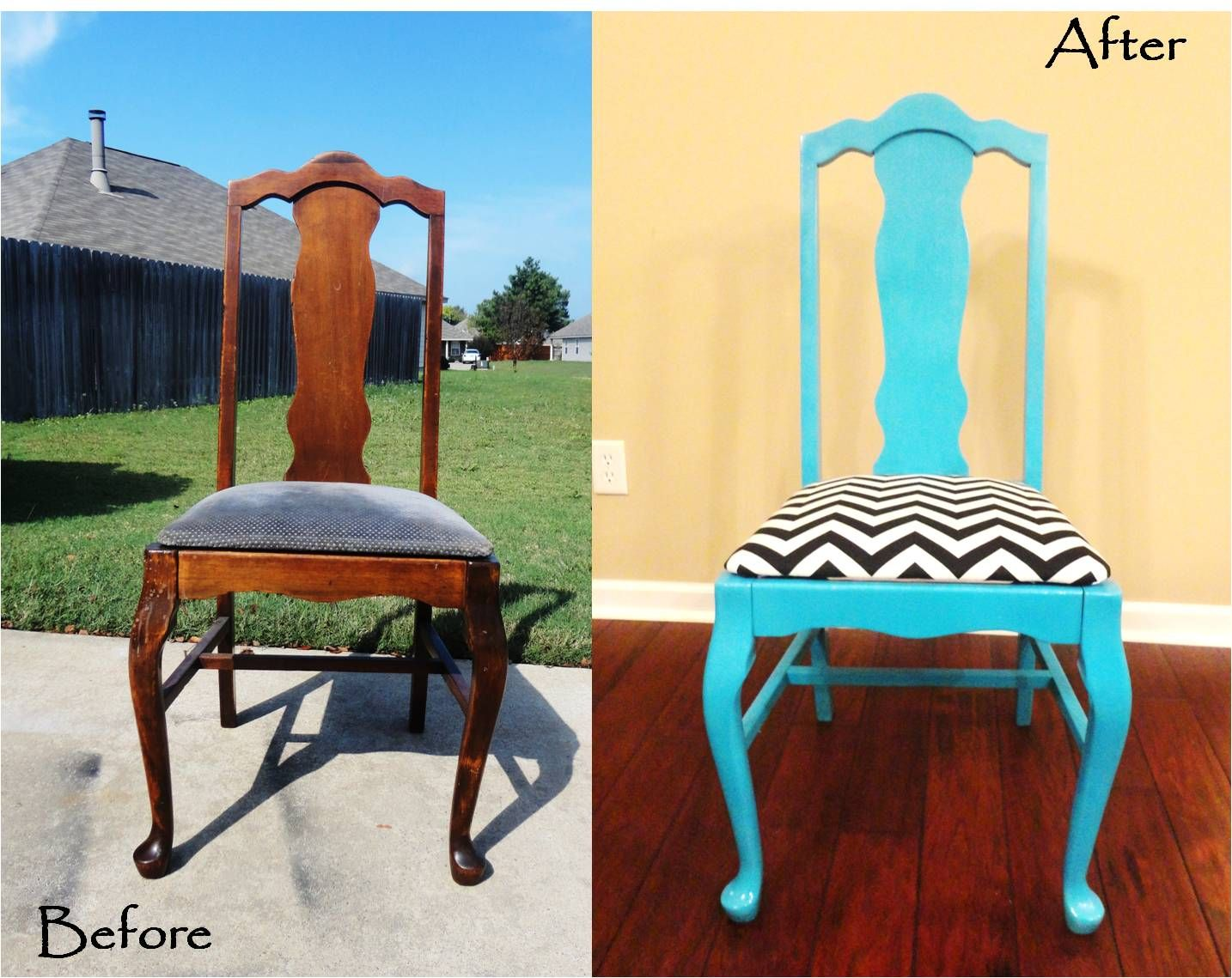 chair gym before and after crate barrel dining room chairs refurbished on pinterest wooden redo