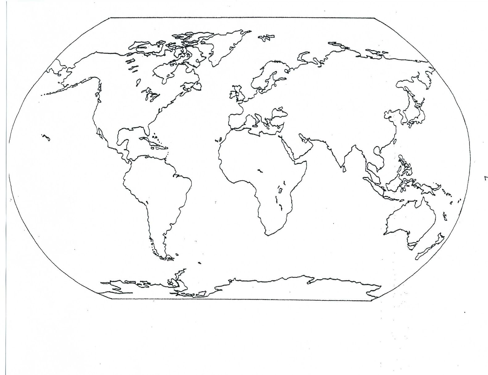 Here is a blank map to be used as a study guide. Click on