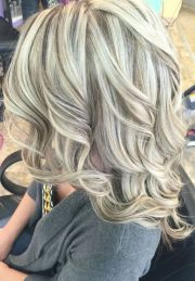 platinum blonde highlights heavy