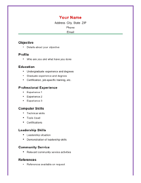 Basic resume skills list