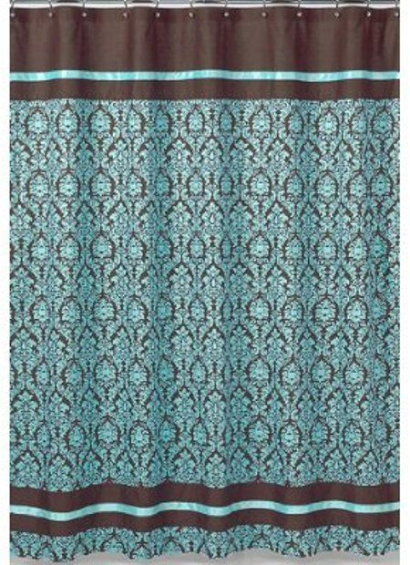 For Guest Bathroom Turquoise And Brown Bella Kids Bathroom Fabric