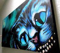 Cheshire Cat Art Print   Alice in Wonderland Wall Art ...