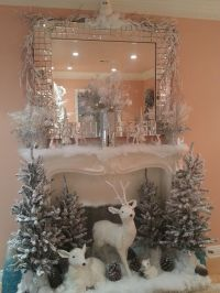 30+ Christmas Fireplace Decoration Ideas | White christmas ...