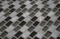 Mother of pearl glass mosaic! Makes for sleek kitchen or ...