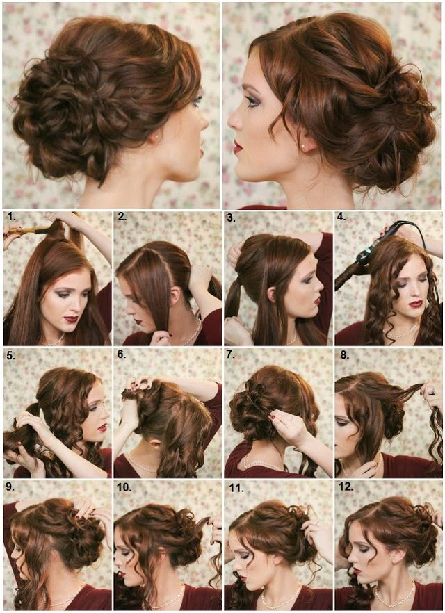 How To Make A Fancy Bun DIY Hairstyle Updo Fancy Buns And