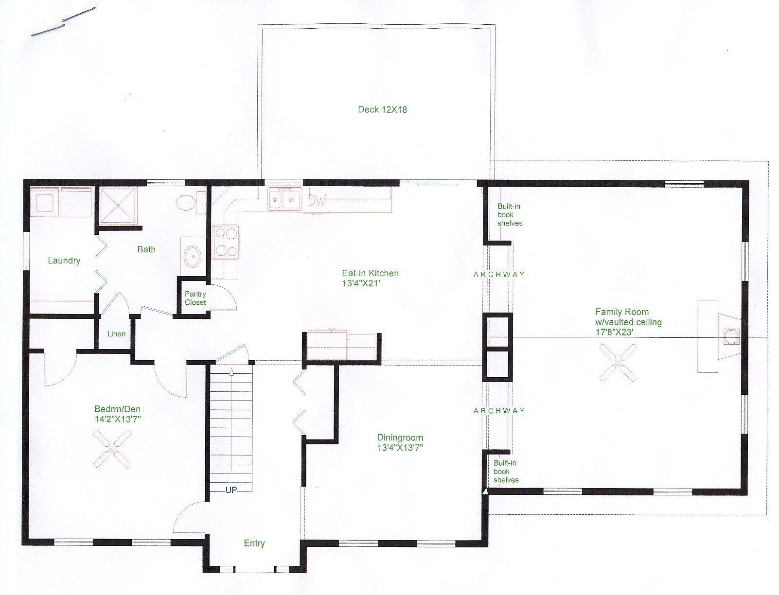 Floorplan Example Of Cape Style Home Floorplans Pinterest